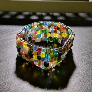 Jewelry - Multicolored Stretch Cuff Bracelet